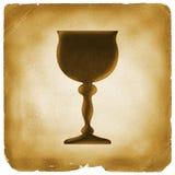 Świętego Graalu symbol na starym papierze royalty ilustracja