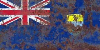 Świętego Helena grunge flaga, Brytyjscy Zamorscy terytorium, Brytania obrazy royalty free