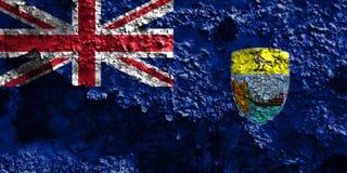 Świętego Helena grunge flaga, Brytyjscy Zamorscy terytorium, Brytania obrazy stock