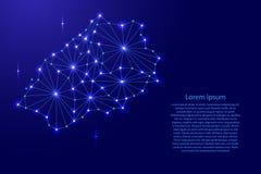 Świętego Helena mapa poligonalna mozaika wykłada sieć, promienie i przestrzeń gra główna rolę ilustrację Fotografia Stock