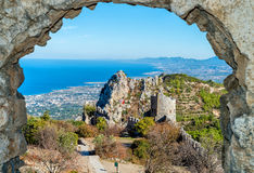 Świętego Hilarion kasztel, Cypr Zdjęcie Stock
