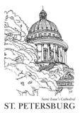 Świętego Isaac katedra, St Petersberg, Rosja royalty ilustracja