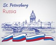 Świętego Isaac katedra w świętym Petersburg, Rosja Sk ilustracji
