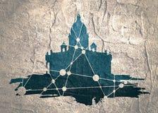 Świętego Isaac ` s katedra w świętym Petersburg Rosja ilustracja wektor
