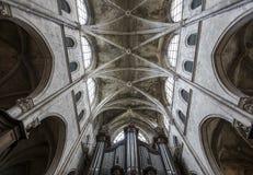 Świętego Jacques kościół, Compiegne, Oise, Francja fotografia royalty free