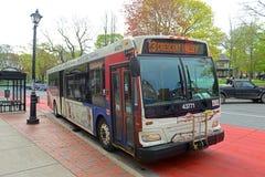 Świętego John Przelotowy autobus w świętym John, NB, Kanada Zdjęcie Stock