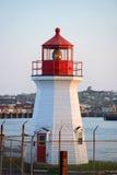 Świętego John straży przybrzeżnej bazy latarnia morska, NB, Kanada Zdjęcie Stock