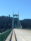 Świętego Johns most Portland Oregon zdjęcia stock