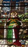 Świętego Joseph witrażu okno Obraz Royalty Free