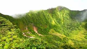 Świętego Kitts tropikalnego lasu deszczowego krater zbiory