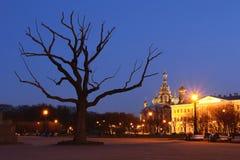 świętego kościół w nocy obrazy royalty free
