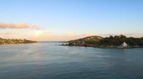 Świętego Lucia tropikalnej wyspy - Castries schronienie Zdjęcia Royalty Free