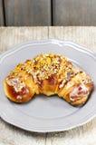 Świętego Martin croissant. Tradycyjny połysku tort obrazy stock