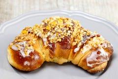 Świętego Martin croissant. Tradycyjny połysku tort fotografia royalty free
