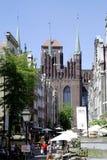 Świętego Mary kościół Gdański w Polska obrazy royalty free