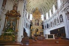Świętego Michael Katedralny Katedralny wnętrze (Monachium) Fotografia Stock