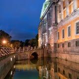 Świętego Michael Mikhailovsky kasztel w St Petersburg Rosja Obrazy Stock