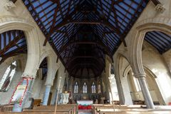 Świętego Nave Tomasowski Kościelny sufit Fotografia Stock