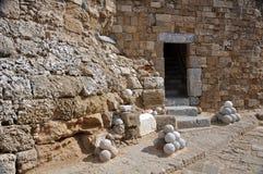Świętego Nicholas fort, Rhodes zdjęcia stock