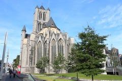 Świętego Nicholas kościół, Ghent, Belgia Obrazy Royalty Free