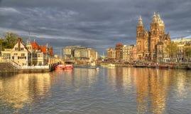 Świętego Nicholas kościół w Amsterdam, Holandia Zdjęcie Royalty Free