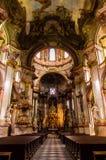 Świętego Nicholas kościół w Prague Obraz Royalty Free