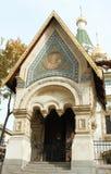 Świętego Nicholas kościół wejście Fotografia Stock