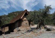 Świętego Paraskevi kościół przy wioską Askas w Cypr Fotografia Royalty Free