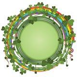 Świętego Patrick liść wokoło Zdjęcia Stock