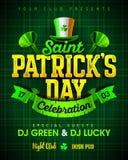 Świętego Patrick ` s dnia świętowania przyjęcia zaproszenia plakatowy projekt royalty ilustracja