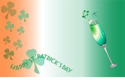 Świętego Patrick ` s dnia szampana tło Zdjęcia Stock