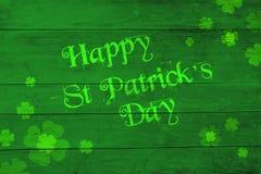 Świętego Patrick ` s dnia zieleni tło Zdjęcia Royalty Free