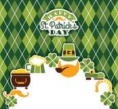 Świętego Patricks dnia baskground Obrazy Royalty Free