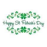 Świętego Patricks dnia grafika z granica wzorem Zdjęcia Stock