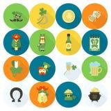 Świętego Patricks dnia ikony set Obraz Royalty Free