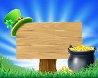 Świętego Patricks dnia Leprechaun znak ilustracji