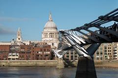 Świętego Paul katedra, Londyn od Południowego banka obraz royalty free