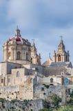 Świętego Paul katedra w Mdina, Malta Zdjęcia Stock