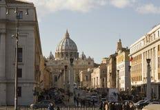 Świętego Peter bazylika w watykanie, Rzym obrazy royalty free