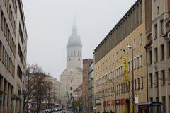 Świętego Peter kościół w Monachium Zdjęcia Stock