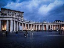 Świętego Peter kwadrat w wieczór fotografia stock