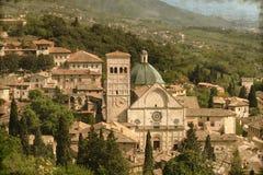 Świętego Rufino katedra - rocznik Zdjęcie Royalty Free