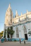 Świętego ` s Maryjna Katolicka Katedralna kościelna zewnętrzna architektura 23 Madurai Luty 2018, India Fotografia Royalty Free
