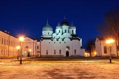 Świętego Sophia katedra w Veliky Novgorod, Rosja zdjęcie royalty free