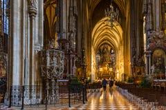 Świętego Stephan katedralny wnętrze w Wiedeń Austria obraz stock