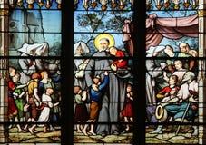 Świętego Vincent De Paul zgromadzenie z córkami dobroczynność porzucał dzieci Obraz Royalty Free