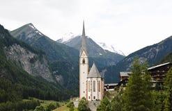 Świętego Vincent pielgrzymki kościół, Heiligenblut Zdjęcia Stock
