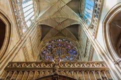 Świętego Vitus katedry wnętrze Fotografia Royalty Free