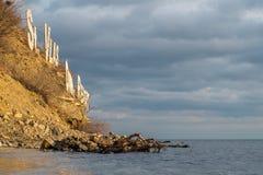 Świętego Vlas plaży znak Zdjęcie Royalty Free