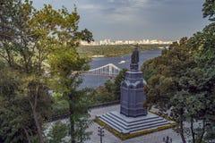 Świętego Volodymyr wzgórze i Zaporoska rzeka obraz royalty free
